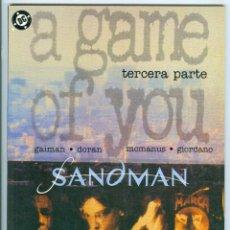 Cómics: ZINCO. SANDMAN. A GAME OF YOU. 3.. Lote 271278773