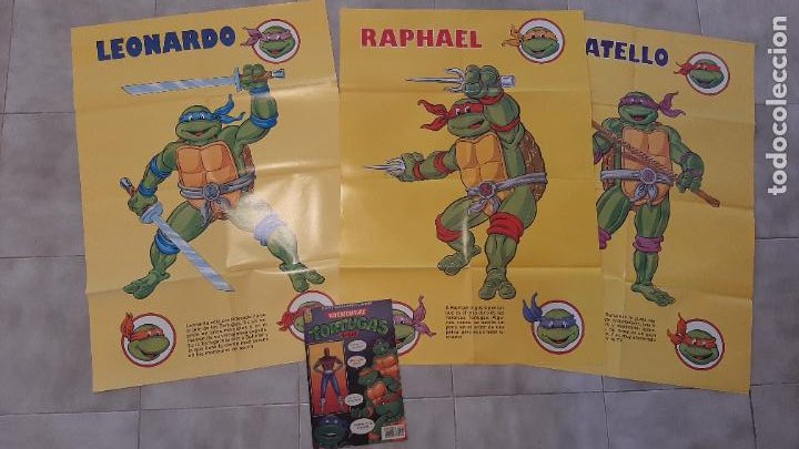 LOTE 4 COMIC TEBEO TORTUGAS NINJA EDICIONES ZINCO 1990 REVISTA SUPER GIGANTE POSTER 1,3,4 Y 48 (Tebeos y Comics - Zinco - Otros)