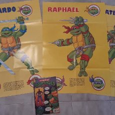 Cómics: LOTE 4 COMIC TEBEO TORTUGAS NINJA EDICIONES ZINCO 1990 REVISTA SUPER GIGANTE POSTER 1,3,4 Y 48. Lote 271398163