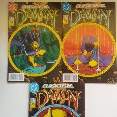 Cómics: CLÁSICOS DC NºS 24, 25 Y 26. DEMON Y LA COSA DEL PANTANO. EDICIONES ZINCO.. Lote 273461673