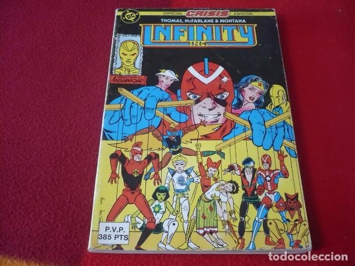 INFINITY INC NºS 12, 13, 14, 15 Y 16 RETAPADO ( ROY THOMAS MCFARLANE ) DC ZINCO (Tebeos y Comics - Zinco - Infinity Inc)