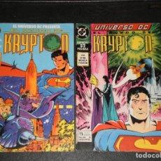 Cómics: UNIVERSO DC PRESENTA EL MUNDO DE KRYPTON -1989 DC ZINCO - Nº 1 Y 2. Lote 275947543
