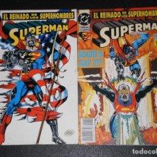 Cómics: SUPERMAN EL REINADO DE LOS SUPERHOMBRES, Nº 2 Y 3 EDICIONES ZINCO 1993. Lote 275949133