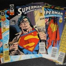 Cómics: LOTE DE 5 COMICS SUPERMAN EL HOMBRE DE ACERO – DC ZINCO1993 – Nº 6,7,8,9Y10 IMPECABLES. Lote 275951713