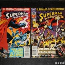 Cómics: 2 COMICS SUPERMAN EL HOMBRE DE ACERO – EL REINADO DE LOS SUPERHOMBRES - DC ZINCO1993 – Nº 3 Y 4. Lote 275964008