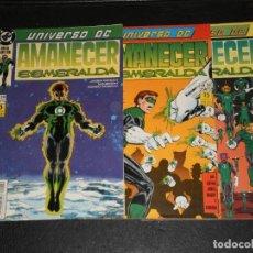 Comics : LOTE 3 COMIS UNIVERSO DC Nº 29-30-31- AMANECER ESMERALDA– DC ZINCO 1989. Lote 276061843