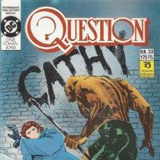 Cómics: THE QUESTION - Nº 33 - ZINCO - MUY BUEN ESTADO !!. Lote 277000933