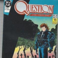Cómics: THE QUESTION - Nº 30 - ZINCO - MUY BUEN ESTADO !!. Lote 277001083