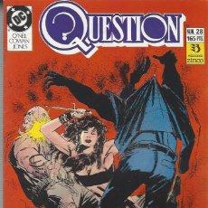 Cómics: THE QUESTION - Nº 28 - ZINCO - MUY BUEN ESTADO !!. Lote 277001278
