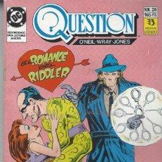 Cómics: THE QUESTION - Nº 26 - ZINCO - MUY BUEN ESTADO !!. Lote 277001413