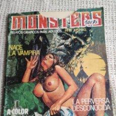 Cómics: MONSTERS Nº 19 - RELATOS GRAFICOS PARA ADULTOS ( COMIC DE TERROR ). Lote 277066083