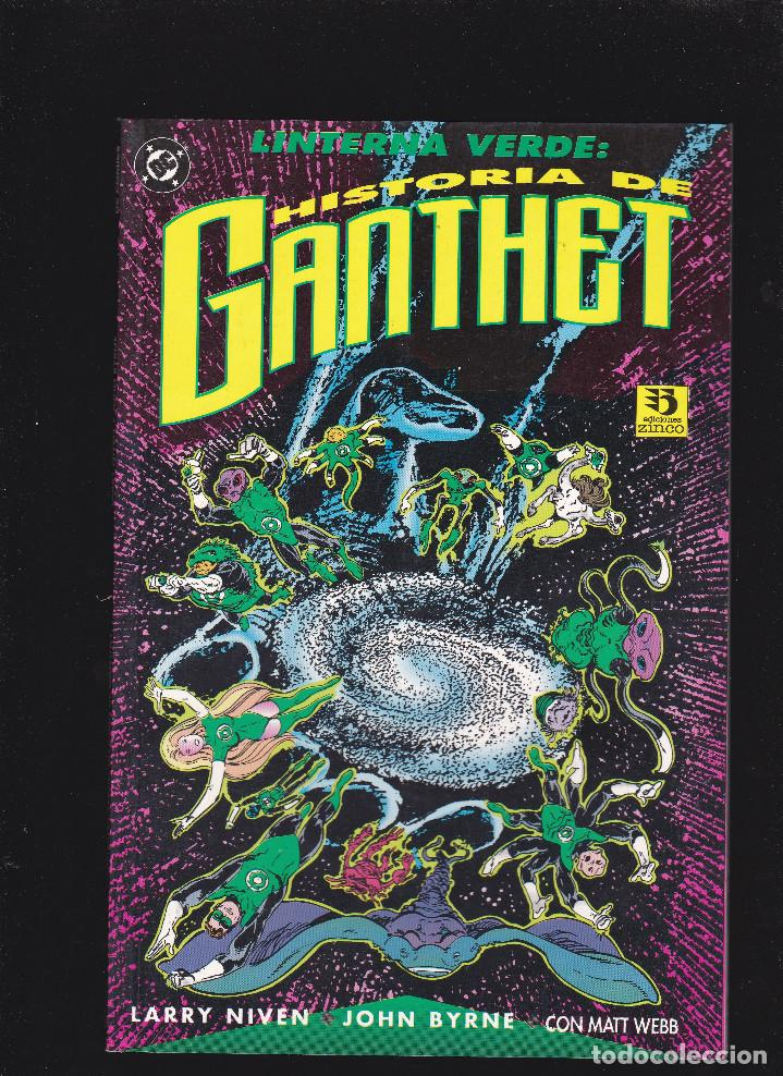 LINTERNA VERDE - HISTORIA DE GANTHET - PRESTIGIO - 64 PP. - EDITORIAL ZINCO - (Tebeos y Comics - Zinco - Otros)