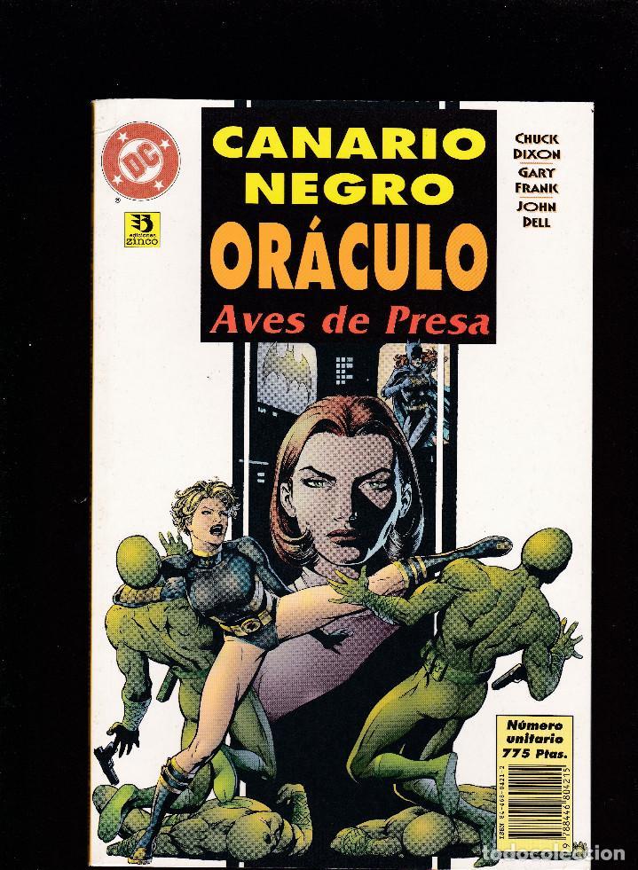 CANARIO NEGRO / ORÁCULO - AVES DE PRESA - DC - ZINCO - (Tebeos y Comics - Zinco - Otros)