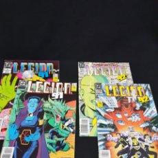 Cómics: LEGION '91 NR 5 Y 6 / LEGION '92 NR 12 Y 15 (ÚLTIMO). DC CÓMICS. ED ZINCO. 1990. Lote 280368253