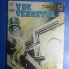 Cómics: COMIC - V DE VENDETTA - Nº 6 - EDICIONES ZINCO - POR ALAN MOORE Y DAVID LLOYD. Lote 280474468
