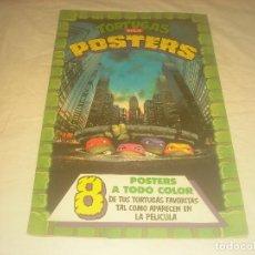 Cómics: TORTUGAS NINJA POSTERS . 8 POSTERS A TODO COLOR . ED ZINCO . 40 X 28 CM.. Lote 285768198
