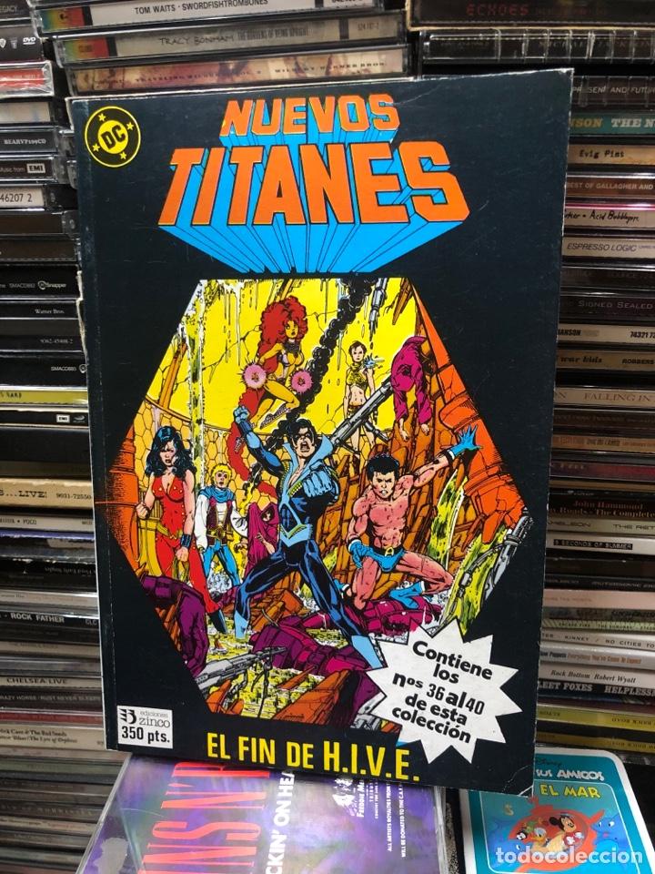 NUEVOS TITANES EL FIN DE H.I.V.E RETAPADO 8 NUMEROS DEL 36 AL 40 (Tebeos y Comics - Zinco - Nuevos Titanes)