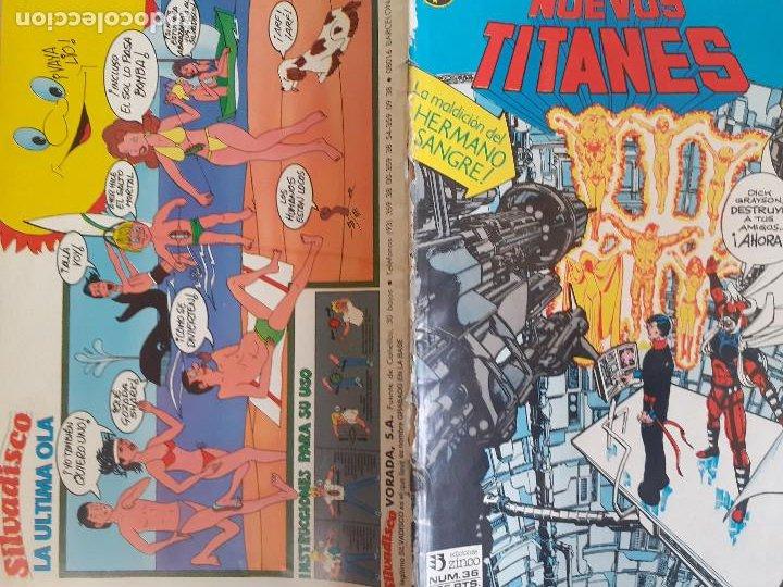 Cómics: Nuevos Titanes nº 36. La maldición del hermano sangre. Zinco 1984. Procede de retapado - Foto 2 - 286344478