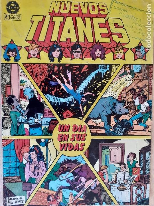 NUEVOS TITANES Nº 8. UN DÍA EN SUS VIDAS. ZINCO 1984. (Tebeos y Comics - Zinco - Nuevos Titanes)