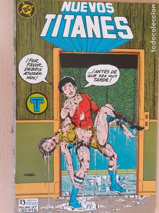 NUEVOS TITANES Nº 37. ZINCO 1984. PROCEDE DE RETAPADO (Tebeos y Comics - Zinco - Nuevos Titanes)