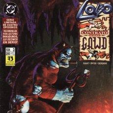 Cómics: LOBO CONTRATO SOBRE GAWD Nº 3 - ZINCO - BUEN ESTADO. Lote 287199873