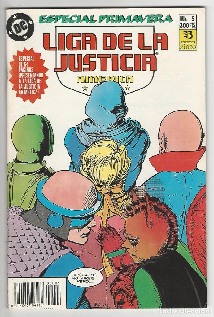 ZINCO. LIGA DE LA JUSTICIA. 5. AMÉRICA. ESPECIAL PRIMAVERA. (Tebeos y Comics - Zinco - Liga de la Justicia)