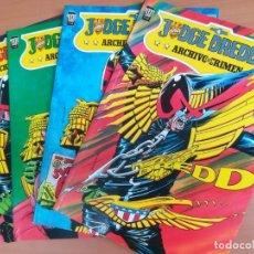 Cómics: JUDGE DREDD'S. ARCHIVOS DEL CRIMEN. ZINCO. COMPLETA EN 4 TOMOS. Lote 287720958