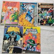Comics: LOTE 5 COMICS DC EDICIONES ZINCO FLASH 2, SUPERMAN 18, CRISIS 1, BATMAN 20, BATMAN OUTSIDERS 7. Lote 288203043
