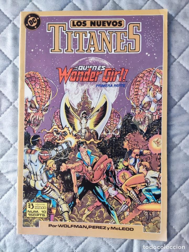 LOS NUEVOS TITANES VOL.2 Nº 10 ZINCO (Tebeos y Comics - Zinco - Nuevos Titanes)