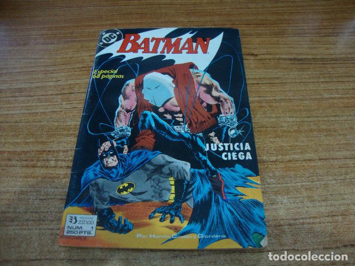 BATMAN Nº 1 ZINCO JUSTICIA CIEGA (Tebeos y Comics - Zinco - Batman)
