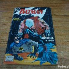 Cómics: BATMAN Nº 1 ZINCO JUSTICIA CIEGA. Lote 288687413