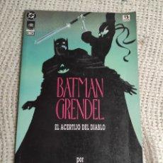 Cómics: GRENDEL BATMAN LA MÁSCARA DEL DIABLO Nº 1 -ED. DC ZINCO. Lote 289642598