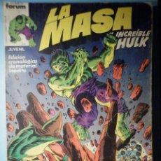 Cómics: LA MASA - EL INCREIBLE HULK - 2 - CONTIENE LOS NÚMEROS DEL 7, 8, 9 Y 10 - FORUM. Lote 290809218