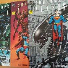 Cómics: SUPERMAN VS ALIENS. COMPLETA EN 3 PRETIGIOS. ZINCO. Lote 291926603