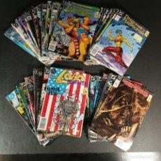 Cómics: LOTE VARIOS COMICS DC ZINCO COSA PANTANO HELLBLAZER SANDMAN LOBO ANIMAL MAN 3 KILOS 65 NÚMEROS. Lote 291973463