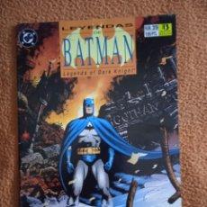 Cómics: LEYENDAS DE BATMAN 39 ZINCO. Lote 293944538