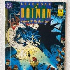 Cómics: LEYENDAS DE BATMAN #22 - ZINCO. Lote 294049023
