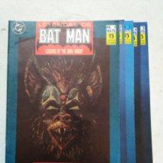 Cómics: COLECCIÓN COMPLETA LEYENDAS DE BATMAN ( NÚMEROS DEL 1 AL 5 ). Lote 294109248