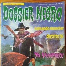 Cómics: DOSSIER NEGRO TOMO RETAPADO DEL Nº 184 AL 187. ED. ZINCO. Lote 297087988