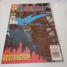 Cómics: BATMAN. VID. NÚMERO 219. IMPECABLE.. Lote 297242023