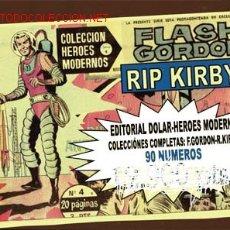 Cómics: FLASH GORDON Y RIP KIRBY-COLECCIÓN HEROES MODERNOS-DAN BARRY-JOHN PRETICE CAJA 150 Y 100-C CARBONERA. Lote 12940676