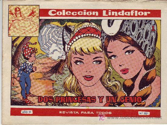 COLECCION LINDAFLOR-REVISTA PARA TODOS AÑO IV Nº 207 -DOS PRINCESAS Y UN GENIO (Tebeos y Comics Pendientes de Clasificar)