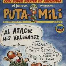 Cómics: EL JUEVES - PUTA MILI - Nº 67. Lote 3472570