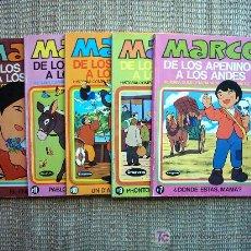 Fumetti: MARCO DE LOS APENINOS A LOS ANDES Nº 6 Y 7. EDITORIAL BRUGUERA 1977. . Lote 31222577