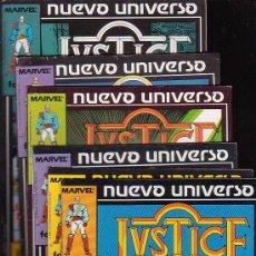 Cómics: NUEVO UNIVERSO JUSTICE - COLECCION COMPLETA DE 12 EJEMPLARES. Lote 33636865