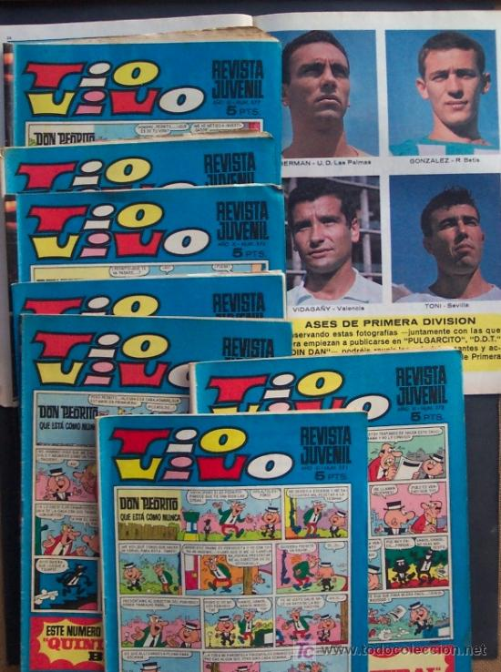 TEBEOS TIOVIVO , CON CROMOS ASES DE PRIMERA DIVISION , LOTE DE 8 , Nº 370 - 377 (Tebeos y Comics Pendientes de Clasificar)