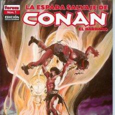 Cómics: LA ESPADA SALVAJE DE CONAN EDICIÓN COLECCIONISTAS 38 EJEMPLARES CON LOS 33 PRIMEROS. FORUM. NUEVOS!!. Lote 152180892