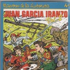 Cómics: JUAN GARCÌA IRANZO, MAESTROS DE LA HISTORIETA Nº 4, 2º DE IRANZO, MUY NUEVO. Lote 50113333