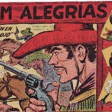 Cómics: COMIC JIM ALEGRIAS Nº9 -ORIGINAL DEL AÑO 1960 - REBELION EN MONTE ROJO. Lote 21051614