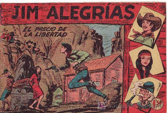 COMIC JIM ALEGRIAS Nº13 -ORIGINAL DEL AÑO 1960 - EL PRECIO DE LA LIBERTAD (Tebeos y Comics Pendientes de Clasificar)